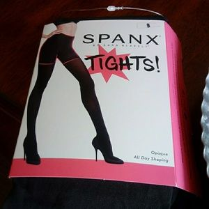 Spanx Tights Charcoal Opaque All Day Shaping B